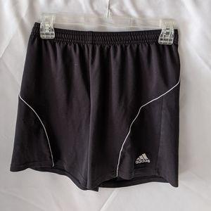 Adidas black soccer shorts size large